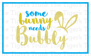 Some Bunny Needs Bubbly Easter Champagne Bottle Labels
