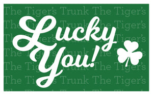 Lucky You St. Patrick's Day Champagne Bottle Labels