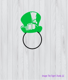 Monogram Leprechaun Hat St. Patrick's Day cutting file package (SVG, DXF, JPG, GSP, PDF, PNG)