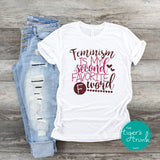 Feminism is My Second Favorite F Word shirt