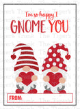 Gnome Printable Valentine Cards