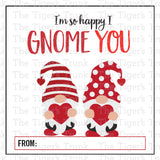 Gnome Printable Valentine Tags