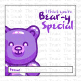 Have a Beary Happy Valentine's Day Printable Valentine Tags