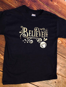 Believe Christmas tee