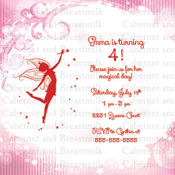 Fairy Birthday Party Invitations | Children's Birthday Party Digital Printable Invitations