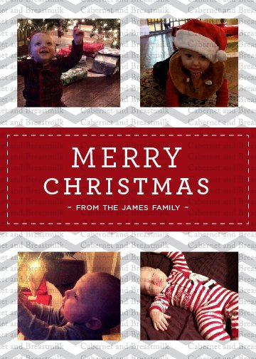 Personalized Printable Merry Christmas Cards