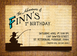 Huck Finn Children's Birthday Party Digital Printable Invitations