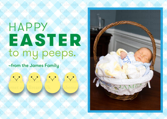 Kids Easter Cards | Happy Easter | Easter Card | Digital Printable Photo Card