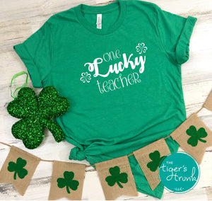 One Lucky Teacher St. Patrick's Day shirts