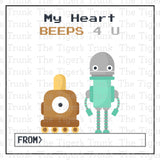 Robot Printable Valentine Tags