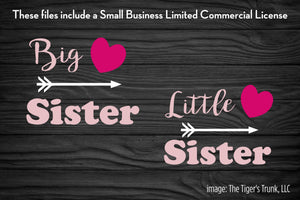 Big Sister / Little Sister cutting file packages (SVG, DXF, JPG, GSP, PDF, PNG)