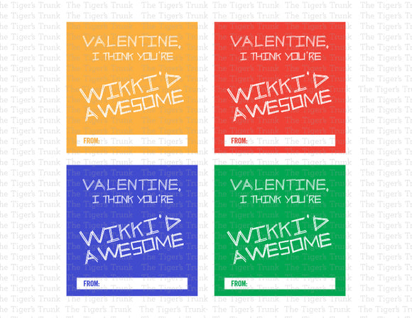 Wikki Sticks Valentine cards (digital file)