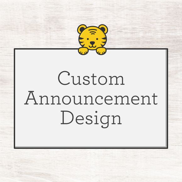 Custom Announcement or Save-the-Date (digital file)