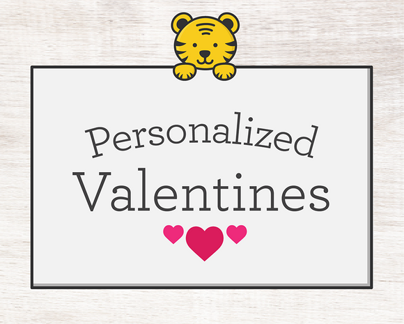 Personalized Valentine Cards (digital file)