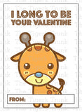 Zoo Animal Printable Valentine Cards