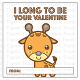 Zoo Animal Printable Valentine Tags
