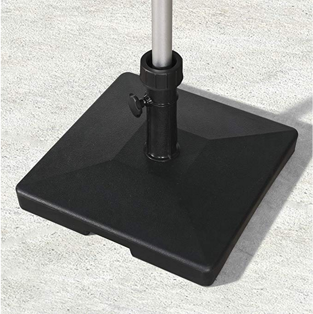 62.5 lbs Umbrella Base, Eco-Friendly PE Fabric Filled with Concrete