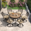 9-13 Feet Rectangle Patio Cantilever Umbrella with 360-degree Rotation