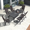 7&9 Piece Outdoor Patio Dining Set with Folding Portable Chairs, 4 Styles