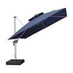 9 Feet Square Patio Umbrella, Turquoise Blue
