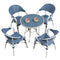 5 Piece Patio Dining Table Sets: Poly & Bark · Aluminum Alloy · Arm Chairs with Table