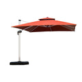 9 -11 Feet Square Cantilever Patio Umbrella Outdoor Umbrella with 360 Degree Rotation
