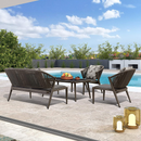 4 Piece Outdoor Conversation Set Outdoor Patio Sofa Set