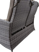 Outdoor Reclining Loveseat,Patio Loveseat with Adjustable Back