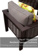 Patio Lounge Chair, Outdoor Armchair with Cushion