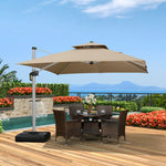 10 Feet Sunbrella Square Patio Umbrella