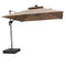 Solar Powered LED Square Cantilever Patio Umbrella