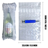 Wine Bottle Protector 15 Pack Inflatable Wine Sleeves Air Cushioning Bags Shockproof Packaging Wrapper for Glass Bottles Bubble
