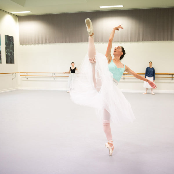 Amy Harris Principal Ballerina in the Dance Studio
