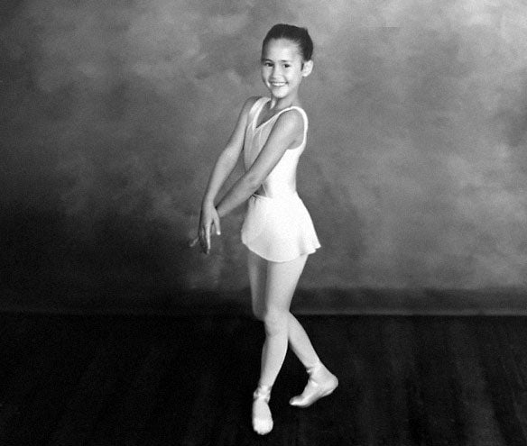Felicia Palanca at Ballet Class 5 years old