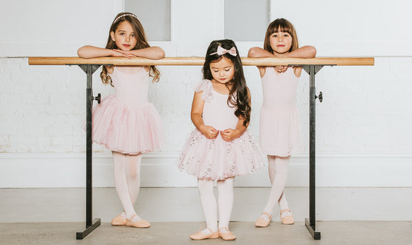 Flo Dancewear Girls at the Ballet Barre