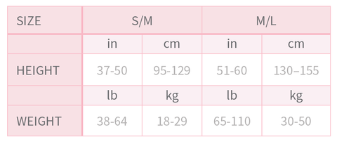 Flo Dancewear Ballet Tights Size Chart