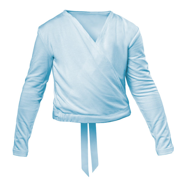 Girls Ballet Warm Up Cross Over in Blue