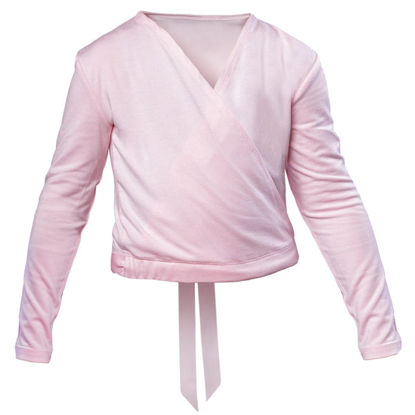 Girls Ballet Warm Up Cross Over in Pink