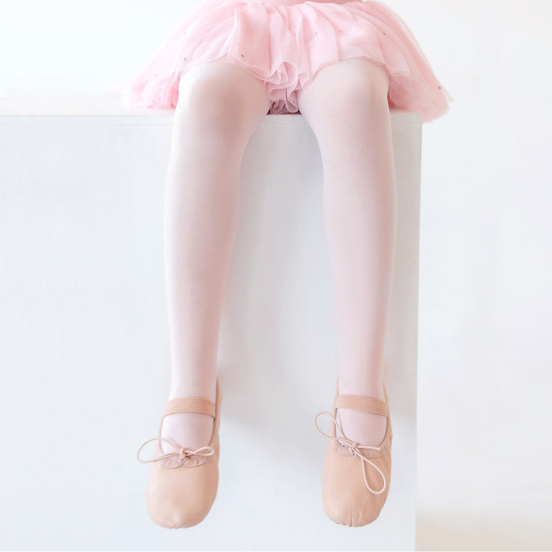Kids Flo Dancewear Footed Ballet Tights