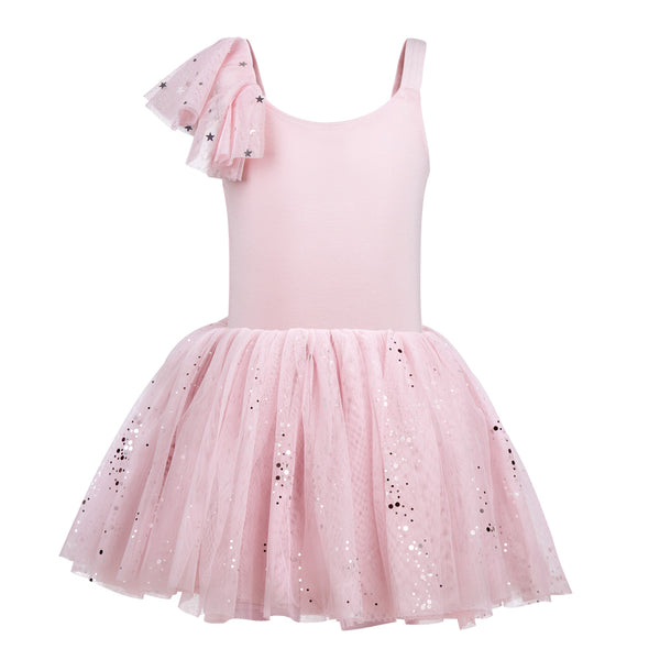 Flo Dancewear One Shoulder Flutter Sleeve Tutu Dress
