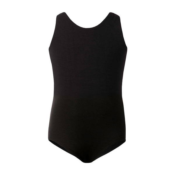 Flo Dancewear Triple Bow Back Leotard in Black
