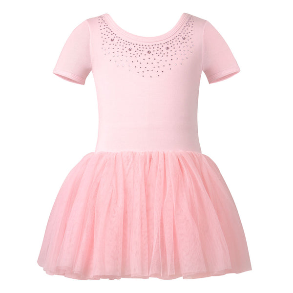 Kids Ballet Concert Leotard Tutu Dress in Pink