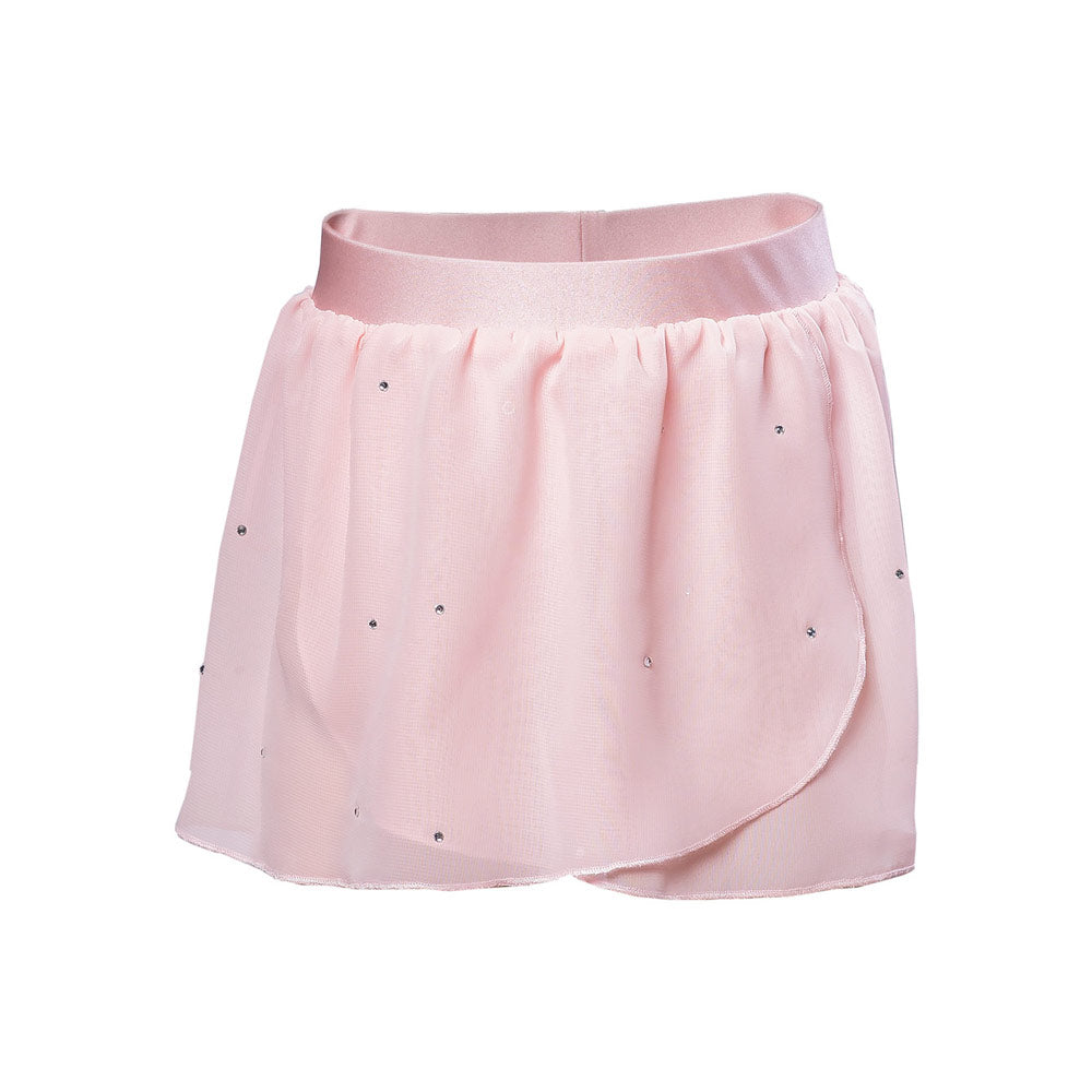 Kids Ballet Class Practice Skirt in Pink