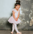 Flo Dancewear Girls Leotard with Sparkling Flutter Sleeve