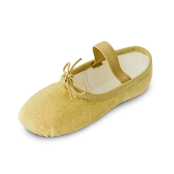 Girls Sparkle Ballet Shoes in Gold