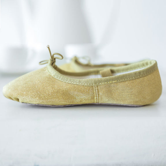 Girks Sparkle Ballet Shoes in Gold