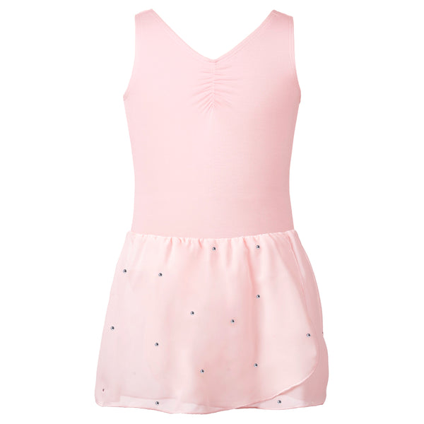 Flo Dancewear Sparkle Skirted Leotard Dress in Pink