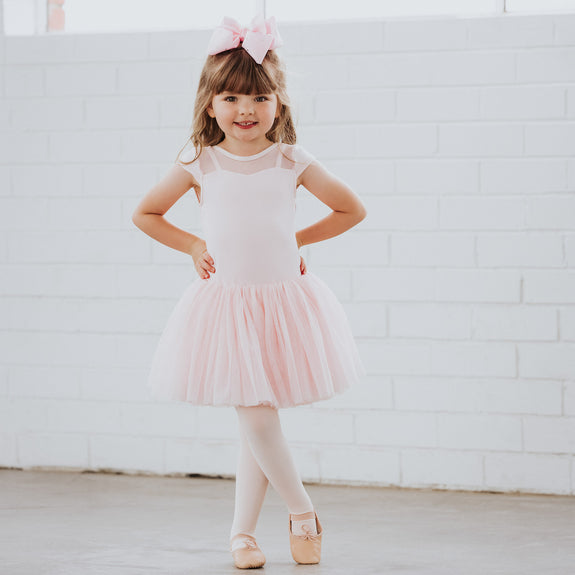 Willow Tutu Dress with Teardrop Mesh in Pink
