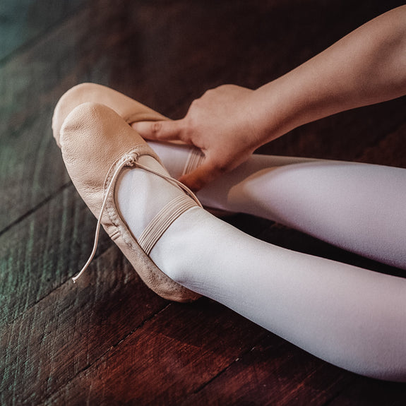 Flo Dancewear Girls Leather Ballet Shoes