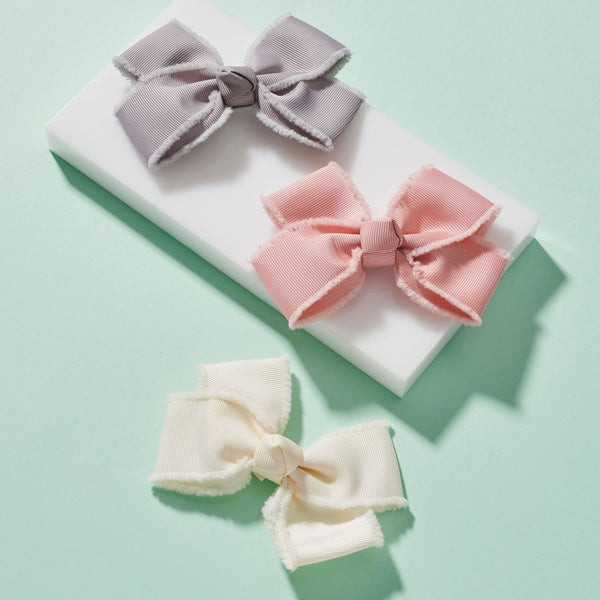 Pixie's Bows Grosgrain Trim Bow Trio